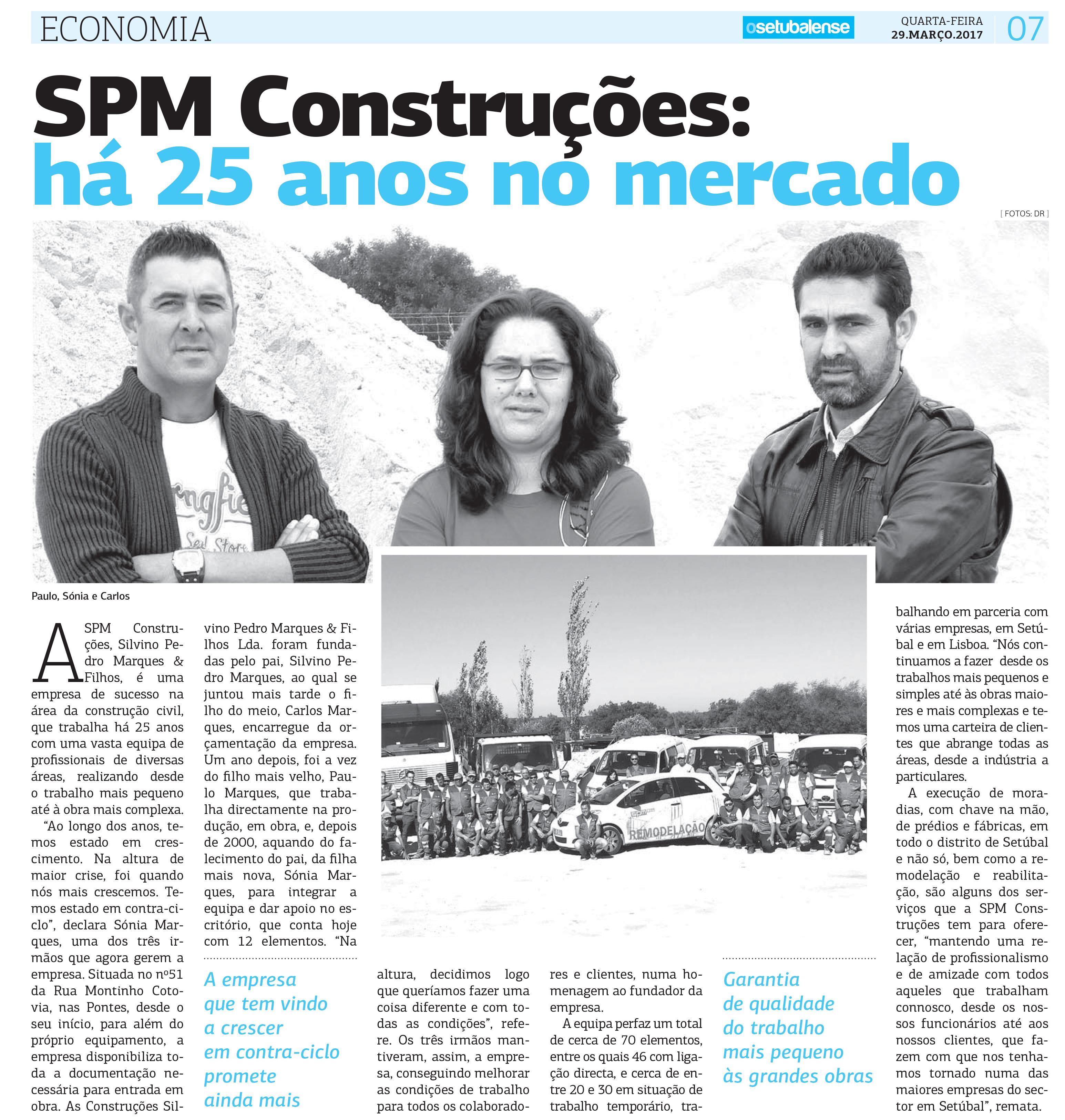 SPM é notícia no Setubalense