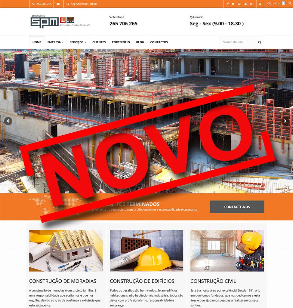 SPM Construções lança novo site