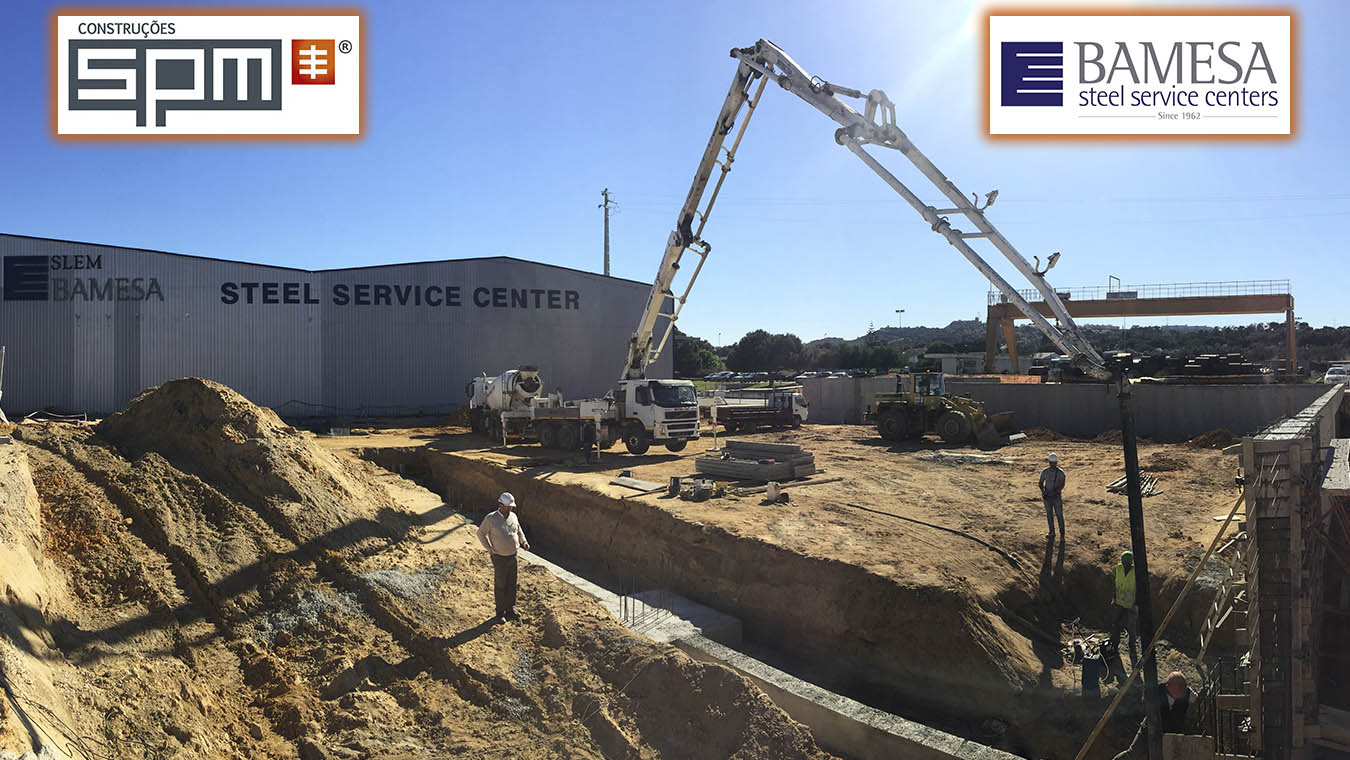 SPM | Obra BAMESA-SLEM – 2ªFase betonagem de sapatas para a construção de um novo edifício!