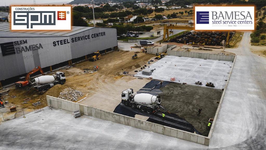 SPM | Construção de novo edifício industrial para a empresa Bamesa/Slem (fase de pavimentação)!