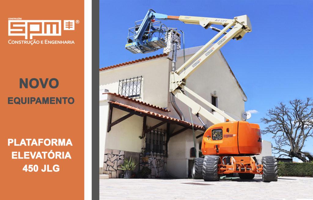 SPM | NOVO EQUIPAMENTO! Plataforma elevatória 450 JLG!